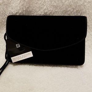 NWT Valerie Steven's Black Velvet shoulder bag